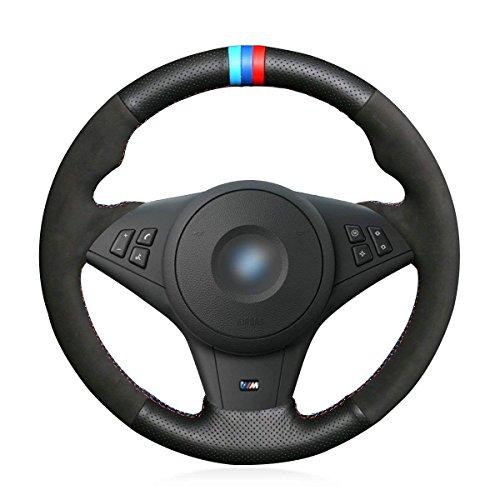 Loncky Auto Custom Genuine Leather Steering Wheel Cover for BMW E60 M5 E63 M6 E64 2005 2006 2007 2008 2009 2010 Interior Accessories