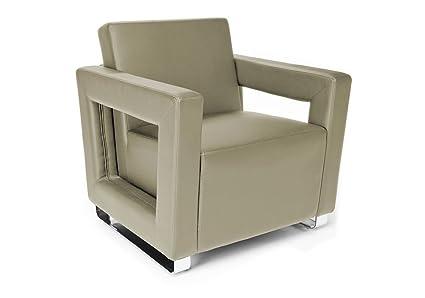 Swell Amazon Com Distinct Modern Reception Chair In Faux Leather Machost Co Dining Chair Design Ideas Machostcouk