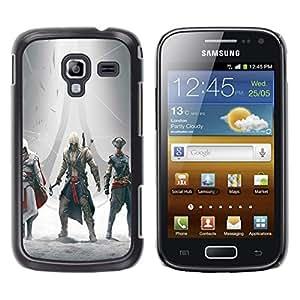Samsung Galaxy Ace 2 - Metal de aluminio y de plástico duro Caja del teléfono - Negro - Assassins Gathering