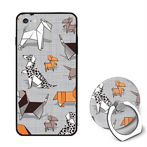 Origami Dog iPhone 6S Case for Girls,iPhone 6 Case,Hard PC Case Ring Bracket Anti Slip Protective Cover for iPhone 6/6S 4.7
