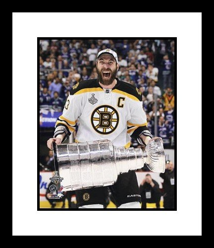 Zdeno Chara Boston Bruins NHL Framed 8x10 Photograph Stanley Cup Champs with Cup - NHL Photos