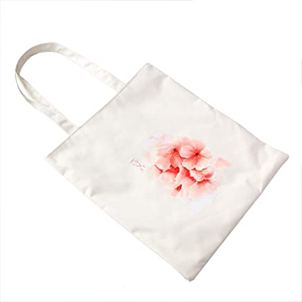 BIGBOBA Bolsa de Compras, Color Blanco, de Lona Natural, de algodón, para Mujer … (G)