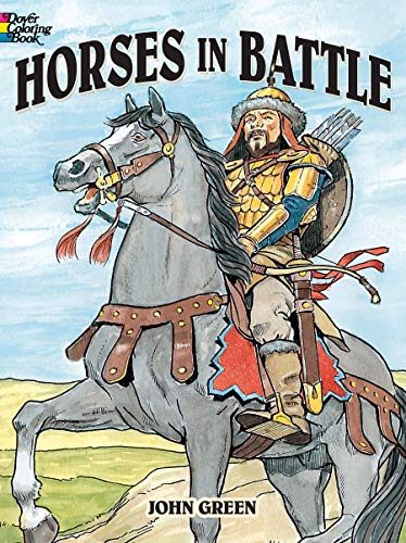 Horses in Battle (Dover History Coloring - Horse Washington