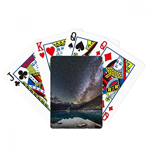 Glacier Lake Observe Stars Galaxy Pattern Poker Playing Cards Tabletop Game Gift by beatChong