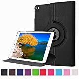 iPad Pro Case, JCmax Case [360 Degree Rotating Stand] PU Leather Flip Smart Cover [Auto Sleep Wake Feature] [Non-Slip] For 12.9 Inch Apple iPad Pro (iPad 6) 2015 Model +Stylus Pen ¨CBlack