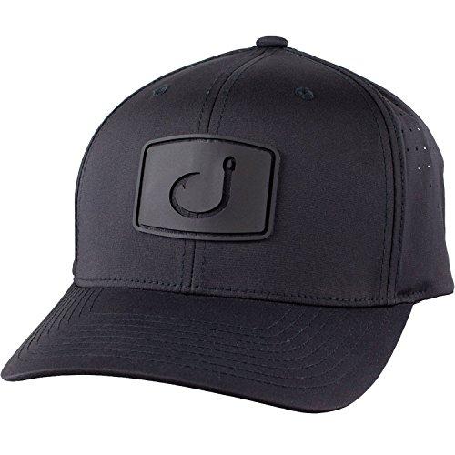Avid Mens Flexfit Fitted Mesh Hat, Black, OS (Fish Hook Hat)