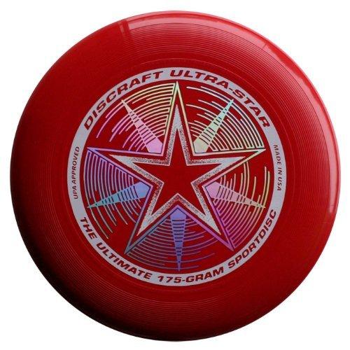 Frisbee Profesional Discraft 175 Gramos / 27cm. Ultra Star Sport Disc Rojo Oscuro