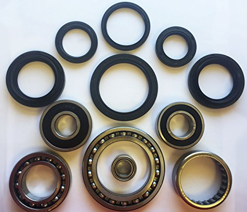 COMPLETE Rear Differential & Axle Tube Bearing Seal Kit for 2000-2006 Yamaha YFM 400 Big Bear 2x4 4x4 (NON IRS) ATV