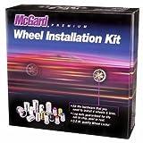 McGard 84538 Chrome/Black (M12 x 1.5 Thread Size) Bulge Style Cone Seat Wheel Installation Kit for 5-Lug Wheels