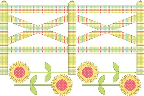Fence Applique (Brewster WPZ93892 Wall Pops Farm Fence from ZooWallogy)