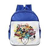 XJBD Custom Cute Jason Mraz Kids Children School Backpack For 1-6 Years Old RoyalBlue