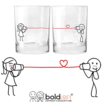 boldloft say i love you too his and hers drinking glasses romantic christmas gifts for