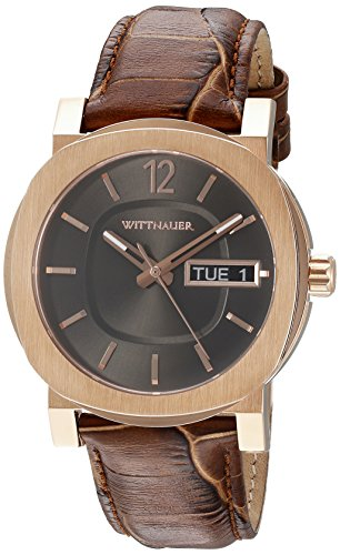 Wittnauer Mens WN1002 22mm Leather Crocodile Brown Watch - Wittnauer Watches Mens