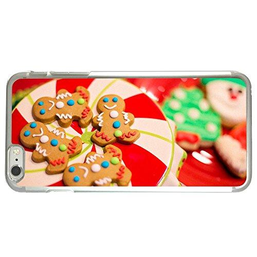 Image Of Plate Of Christmas Cookies Gingerbread Men Snowmen Apple iPhone 6 Plus / 6S Plus Clear Phone Case