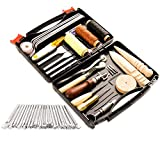 50 Pieces Leather Working Tools and Supplies with