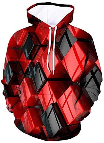 Belovecol Men Women 3D Hoodies Unisex Casual Pullover Lightweight Sweatshirts Hooded Jumpers Plush Lining