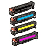 ShopAt247 Compatible Toner Cartridge Replacement for HP CE320A CE321A CE322A CE323A (1 Black, 1 Cyan, 1 Yellow, 1 Magenta, 4-Pack), Office Central