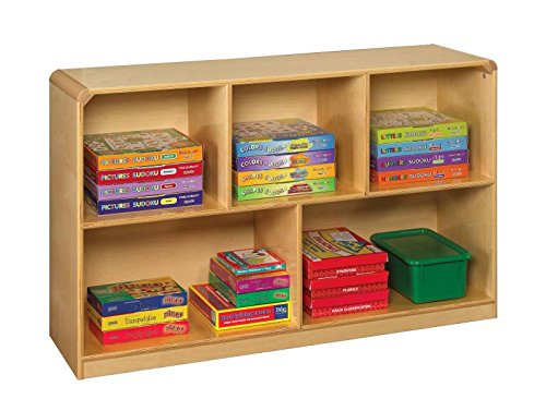 Childcraft Korners for Kids Mobile Storage, 5-Compartments, 47-3/4 x 14-1/4 x 30 Inches