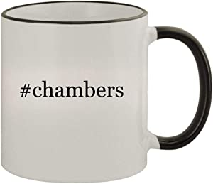 #chambers - 11oz Ceramic Colored Rim & Handle Coffee Mug, Black