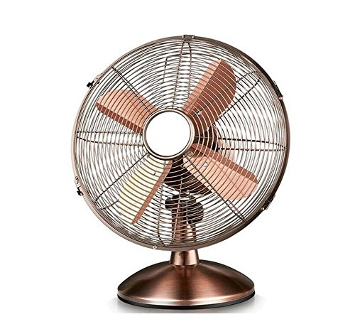 Retro Metal Copper Industrial Style Fan Office Table Fan Silently Shaking His Head Fan DESK (Retro Fan Heater)