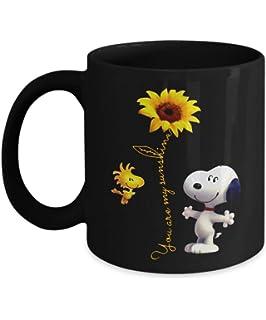 08581455536 You are my sunshine snoopy sunflower coffee mug cup-You're my sunshine mugs