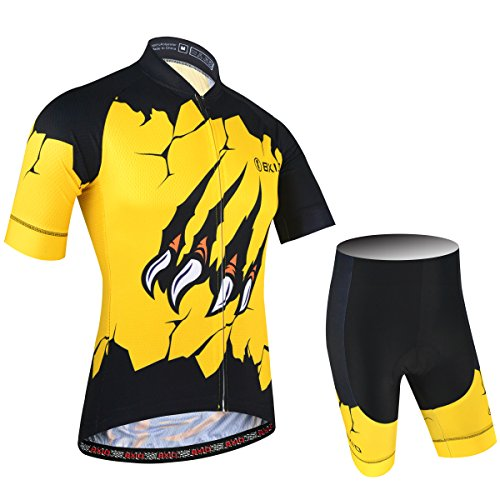 (BXIO Men Cycling Clothing Pro Team Bike Wear Road Race for Riding Support Mixed Size Breathable Short Sleeve with Bib Shorts 188 (Shirts and Shorts, XL))