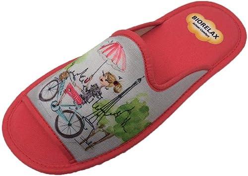 Zapatillas de Estar por casa/Mujer/Biorelax/: Amazon.es: Zapatos y complementos