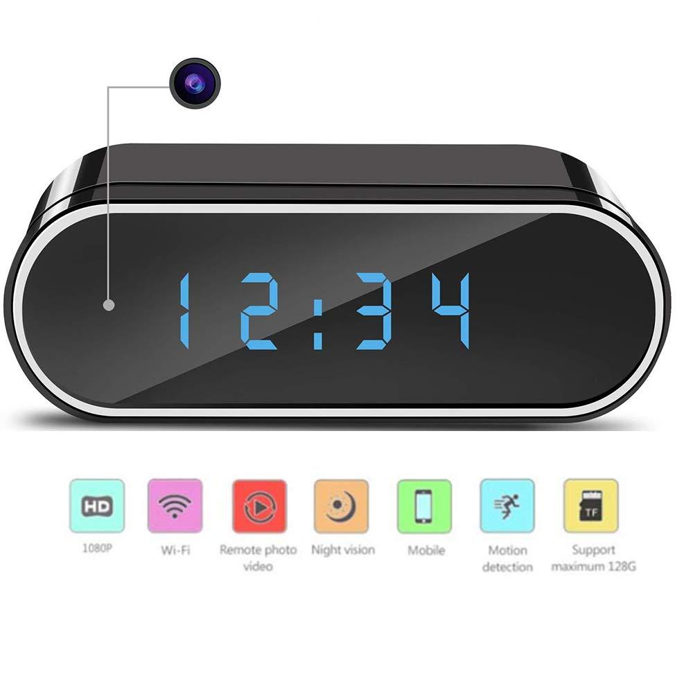 WMIAO Cámara Oculta Reloj WiFi Remoto Ver Cámara Mini IP Detección De Movimiento HD 1080P Loop Grabación Cámara Inalámbrica Vídeo En Tiempo Real, ...