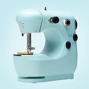 Myhope Máquina de coser eléctrica portátil doméstica Luz LED y Rewind automático de la banda de rodamiento Multifunción 22 * 21 * 12CM, white4: Amazon.es: ...