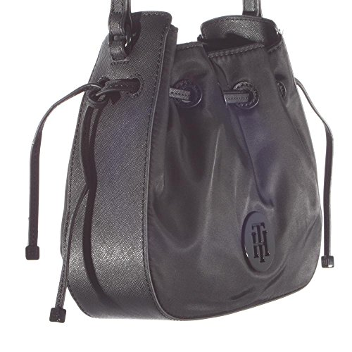 Tommy Hilfiger Handtasche Easy Nylon Med Crossover 80 AW0AW03455 Black 002 Damen Tasche