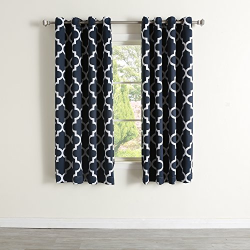 Best Home Fashion Room Darkening Morrocan Print Curtains - A