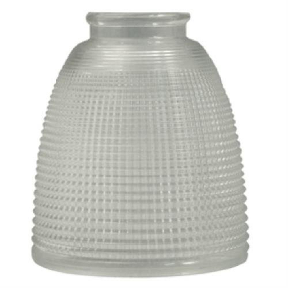 Lowes rippled clear lamp replacement shade lot of 2 amazon com