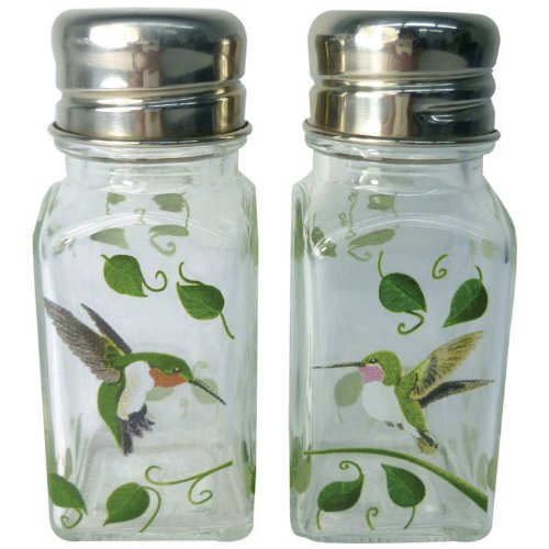 - Westland Giftware A Touch of Glass Hummingbirds Salt and Pepper Shaker Set, 4-Inch