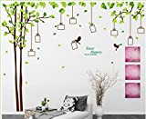 Naomi-D spring frame A branches birds photo stickers removeable living room sofa Removable Wall Decor Decal Sticker - - Amazon.com