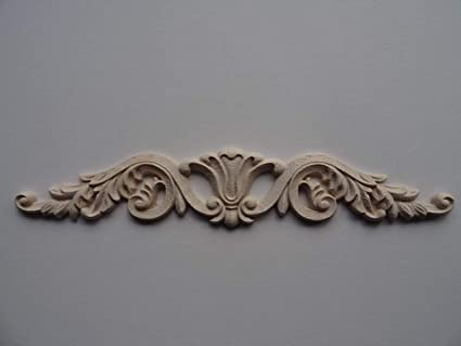 Decorative wooden center applique onlay furniture moulding wk