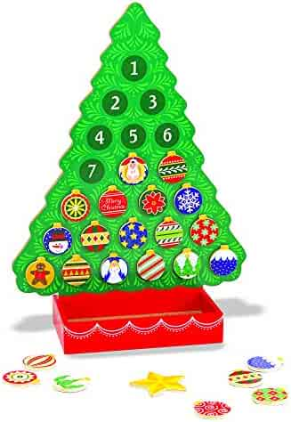 Melissa & Doug Wooden Advent Calendar, Great Gift for Girls and Boys - Best for 4, 5, 6 Year Olds and Up
