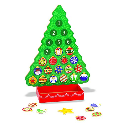 Melissa & Doug Wooden Advent Calendar, Great Gift for Girls and Boys - Best for 4, 5, 6 Year Olds and Up (Large Wooden Tree Christmas)