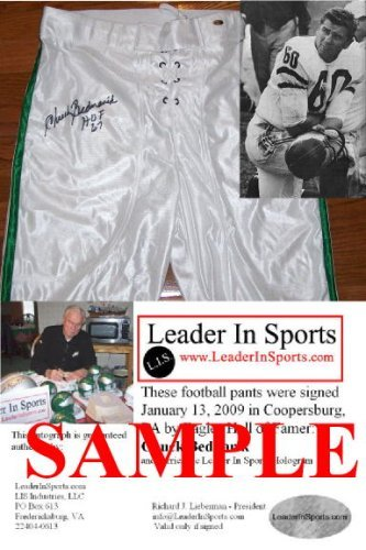 Chuck Bednarik Autographed Football Pants - Philadelphia Eagles - NFL Hall of Fame Leader In Sports
