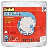 Scotch Cushion Wrap, 12 Inches x 25 Feet, 1/2-Inch Bubble (BB7912-25)