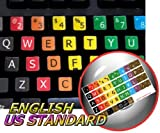 LEARNING LARGE LETTERING (UPPER CASE) ENGLISH US COLORED STICKERS FOR KEYBOARD