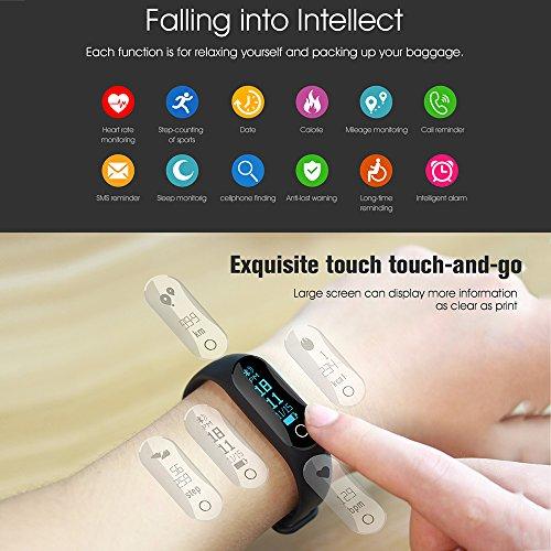 Amazon.com: Hanbaili Fashion M6S Bluetooth 4.0 Smart Wristband ...
