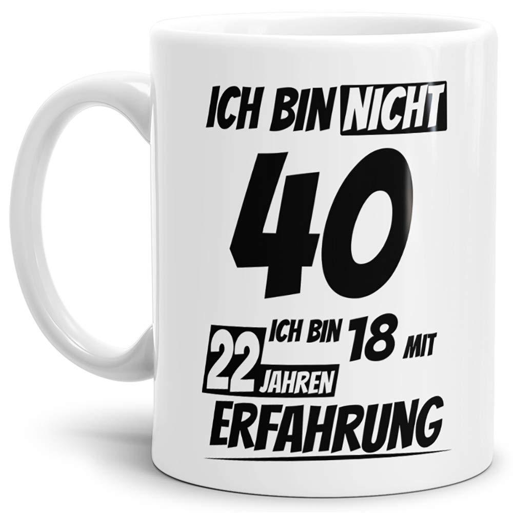 Geburtstags-Tasse Ich bin 25 mit 7 Jahren Erfahrung Innen & Henkel Schwarz / Geburtstags-Geschenk / Geschenkidee / Scherzartikel / Lustig / mit Spruch / Witzig / Spaß / Fun / Kaffeetasse / Mug / Cup / Beste Qualität - 25 Jahre Erfahrung Tassendruck