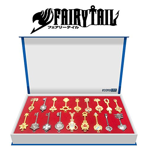EconoLed Rulercosplay Fairy Tail Lucy New Collection Set Golden Zodiac Keys + Chain US Seller