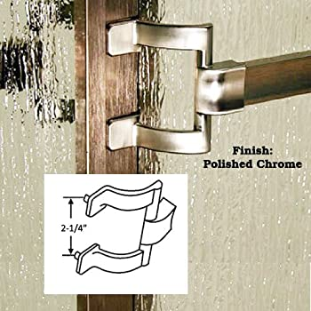 Chrome Framed Sliding Shower Door Towel Bar And Brackets