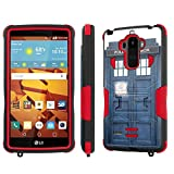 LG G Stylo [LS770 H631] Case, [NakedShield] [Black/Red] Combat Tough Shock Proof with Kickstand - [Blue Phone Box] for LG G Stylo LS770 -  NakedShield for LG G Stylo