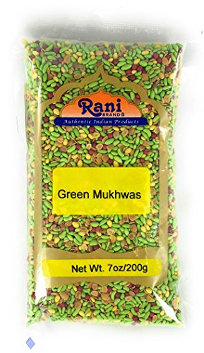 - Rani Green Mukhwas (Special Digestive Treat) 7oz (200g) ~ Indian Candy Mouth Freshener