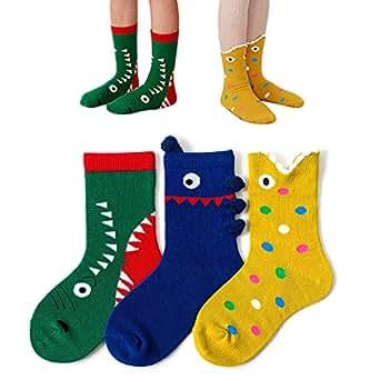 Baby Socks -3 Pairs Thick Winter Toddler Socks Baby Boy and Girl Socks Infant Socks Kid Socks Warm Cotton Crew Socks