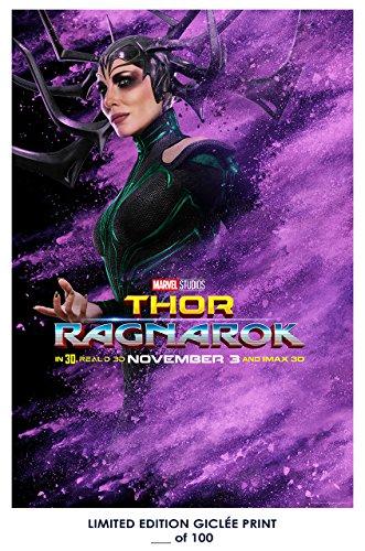Rare Poster thick cate blanchett Thor: Ragnarok hela 2017 movie Reprint #'d/100!