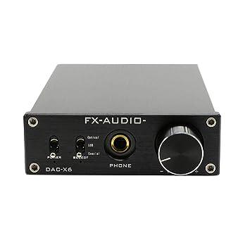 FX-Audio DAC-X6 HiFi óptico USB coaxial Amplificador de Audio Digital decodificador: Amazon.es: Electrónica