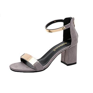 3490231b7f19 Ansenesna Sandalen Damen Sommer Mit Absatz Elegant Metallic Sommerschuhe  Mädchen Comfort Glitzer Schuhe Für Hochzeit Outdoor